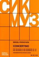 Serge Prokofiev - Concertino Violoncello op. 132 - Partitur - Partition - di-arezzo.fr