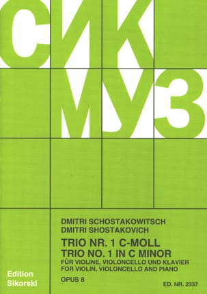 Dmitri Chostakovitch - Trio Nr. 1 op. 8 - Stimmen - Sheet Music - di-arezzo.co.uk
