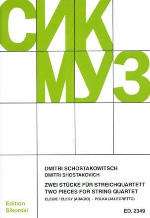 Dmitri Chostakovitch - 2 Stücke für Streichquartett –Partitur + Stimmen - Partition - di-arezzo.fr
