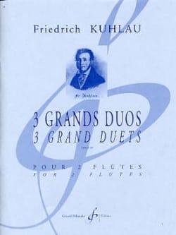 3 Grands Duos Op. 39 Friedrich Kuhlau Partition laflutedepan