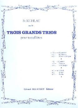 Friedrich Kuhlau - 3 Grands trios op. 86 - n° 1 - 3 Flûtes - Partition - di-arezzo.fr