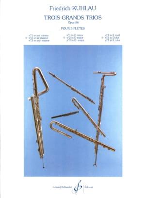 3 Grands trios op. 86 - n° 2 - 3 Flûtes Friedrich Kuhlau laflutedepan
