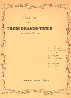 Friedrich Kuhlau - 3 Grands Trios Op. 86 - N° 3 en Mib Majeur - Partition - di-arezzo.fr
