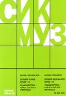 Sonate D-Dur op. 115 – Flöte solo - Serge Prokofiev - laflutedepan.com