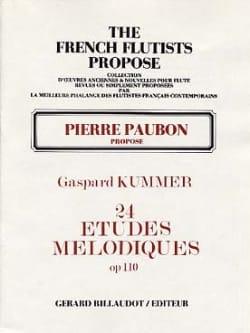 24 Etudes mélodiques op. 110 - Kaspar Kummer - laflutedepan.com