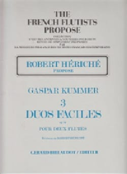 Gaspard Kummer - 3 Duos Faciles Op. 74 - Partition - di-arezzo.fr