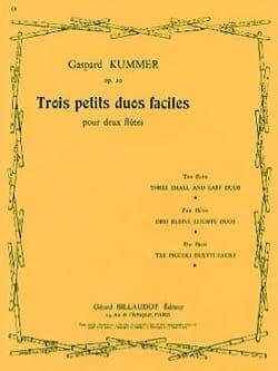 3 Petits duos faciles op. 20 Gaspard Kummer Partition laflutedepan