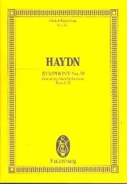 Joseph Haydn - Sinfonie Nr. 39 g-moll - Partition - di-arezzo.fr