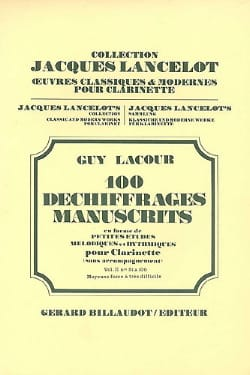 Guy Lacour - 100 Decryptions Manuscripts Volume 2 - Clarinet - Sheet Music - di-arezzo.co.uk