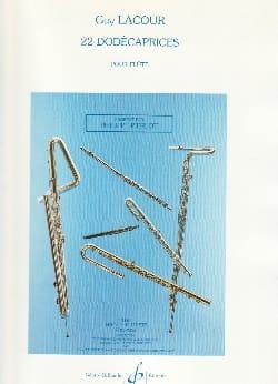 22 Dodécaprices - Flûte Guy Lacour Partition laflutedepan