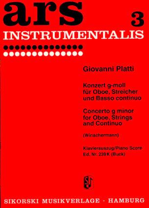 Giovanni Benedetto Platti - Konzert g-moll -Oboe Klavier - Partition - di-arezzo.fr