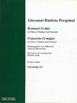 Konzert G-Dur - Partitur PERGOLESE Partition laflutedepan