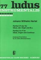 Johann Wilhelm Hertel - Partita Nr. 2 F-Dur – Oboe obl. Orgel u. Bc - Partition - di-arezzo.fr