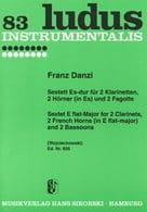 Sextett Es-Dur – 2 Klarinetten 2 Hörner 2 Fagotte - Stimmen - laflutedepan.com