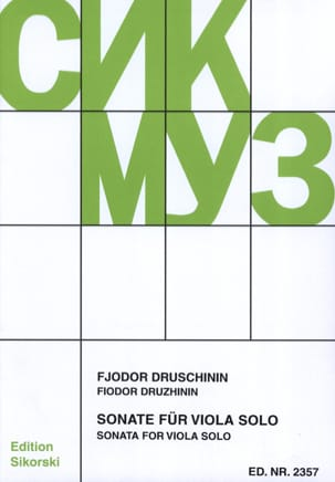 Fjodor Druschinin - Sonata - Alto solo - Sheet Music - di-arezzo.co.uk
