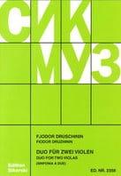 Duo für 2 Violen - Fjodor Druschinin - Partition - laflutedepan.com