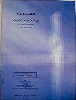 Chanson modale Guy Lacour Partition Flûte traversière - laflutedepan