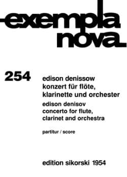 Konzert für Flöte, Klarinette und Orchester - Score - laflutedepan.com