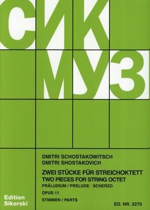 CHOSTAKOVITCH - Präludium und Scherzo für Streichoktett op. 11 - Stimmen - Sheet Music - di-arezzo.co.uk