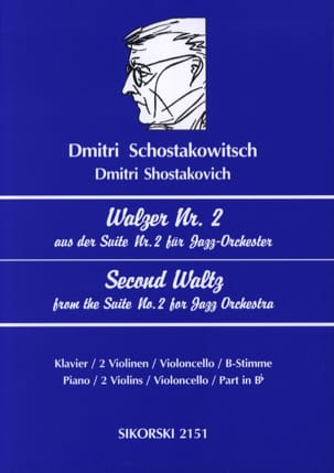 CHOSTAKOVITCH - Walzer Nr. 2 aus der Suite Nr. 2 for Jazz-Orchester - Sheet Music - di-arezzo.com