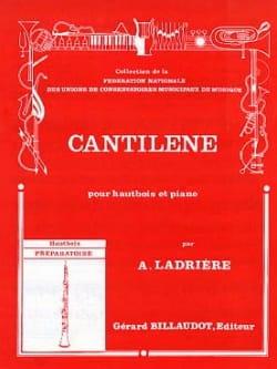Cantilène - Alain Ladrière - Partition - Hautbois - laflutedepan.com