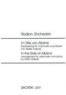 Rodion Shchedrin - Im Stile von Albéniz - Cello piano - Sheet Music - di-arezzo.co.uk