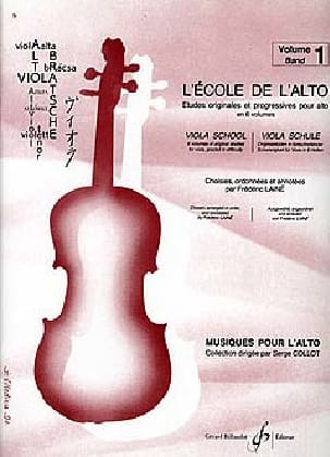 Frédéric Lainé - The School of Alto Volume 1 - Sheet Music - di-arezzo.co.uk