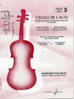 Frédéric Lainé - The School of Alto Volume 3 - Sheet Music - di-arezzo.co.uk