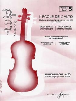 Frédéric Lainé - The viola school - Volume 5 - Partition - di-arezzo.co.uk