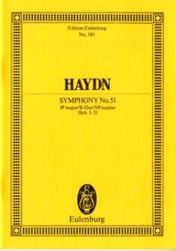 Sinfonie Nr. 51 B-Dur - Joseph Haydn - Partition - laflutedepan.com
