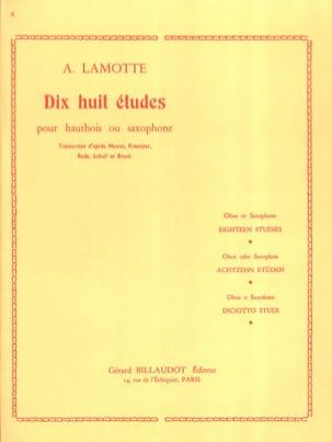 18 Etudes Antony (Fils) Lamotte Partition Hautbois - laflutedepan
