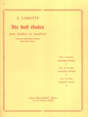 Antony (Fils) Lamotte - 18 Etudes - Partition - di-arezzo.fr