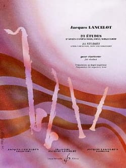 Jacques Lancelot - 23 Studies for Clarinet - Sheet Music - di-arezzo.co.uk