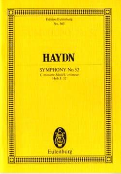 Sinfonie Nr. 52 c-moll - Joseph Haydn - Partition - laflutedepan.com