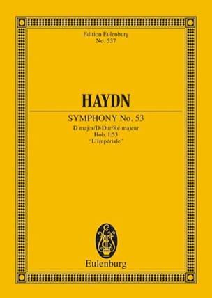 Joseph Haydn - Sinfonie Nr. 53 D-Dur - Partition - di-arezzo.fr