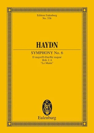 HAYDN - Symphony Nr. 6 D-Dur The Morning - Sheet Music - di-arezzo.com