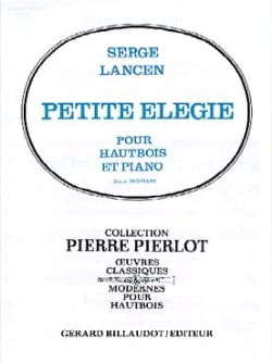 Serge Lancen - Little elegy - Sheet Music - di-arezzo.com