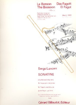 Serge Lancen - Sonatine for bassoon and piano - Sheet Music - di-arezzo.com