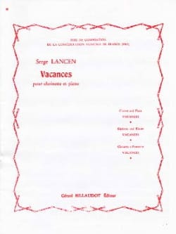 Serge Lancen - Holidays - Sheet Music - di-arezzo.co.uk