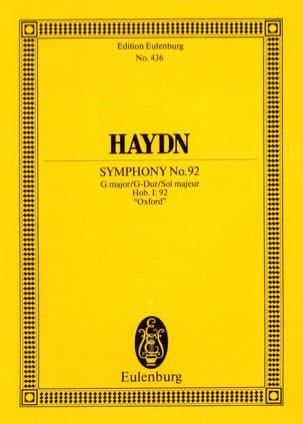 HAYDN - Symphonie N° 92 en Sol Majeur - Partition - di-arezzo.fr