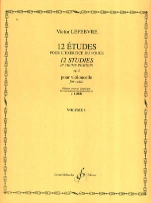 12 Etudes Op. 2 Volume 1 Victor Lefebvre Partition laflutedepan