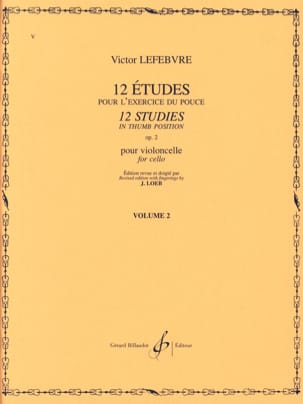 Victor Lefebvre - 12 Studies Op. 2 Volume 2 - Sheet Music - di-arezzo.co.uk