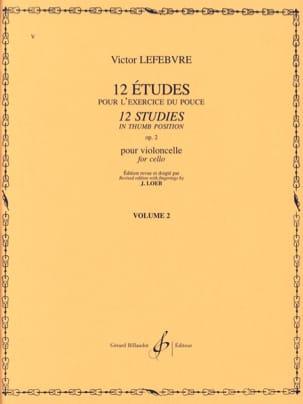 Victor Lefebvre - 12 Etudes Op. 2 Volume 2 - Partition - di-arezzo.fr