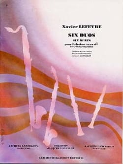 Xavier Lefevre - 6 Duos - Sheet Music - di-arezzo.co.uk