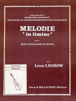 Mélodie in limine - Léon Legron - Partition - laflutedepan.com