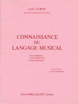 Léon Legron - Knowledge of musical language - Elém. - Teacher - Sheet Music - di-arezzo.com