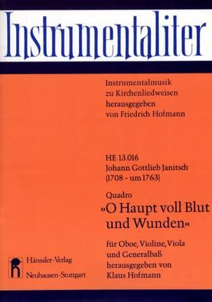 Johann Gottlieb Janitsch - O Haupt voll Blut und Wunden - Partition - di-arezzo.fr