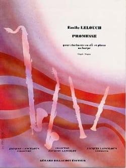 Promesse - Emile Lelouch - Partition - Clarinette - laflutedepan.com