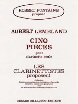 5 Pièces - Aubert Lemeland - Partition - Clarinette - laflutedepan.com