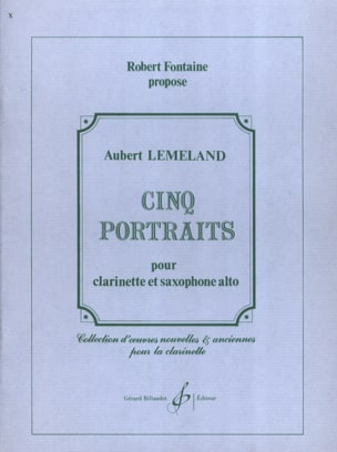 Aubert Lemeland - Cinq portraits - Partition - di-arezzo.fr